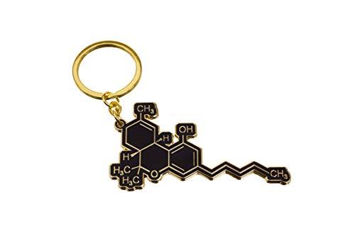 Black Jaguar Thc Molekül Schlüsselanhänger   Cannabis Geschenke   Marijuana Geschenke