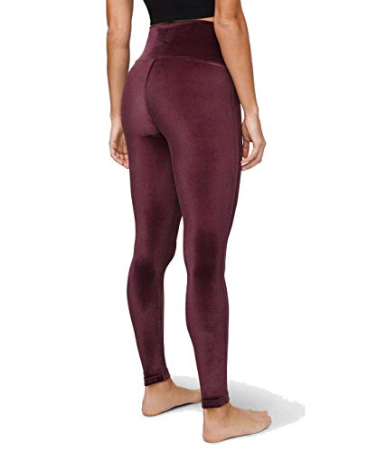 "Lululemon Wunder Lounge High-Rise Tight 28"" Velvet (Garnet, 8)"
