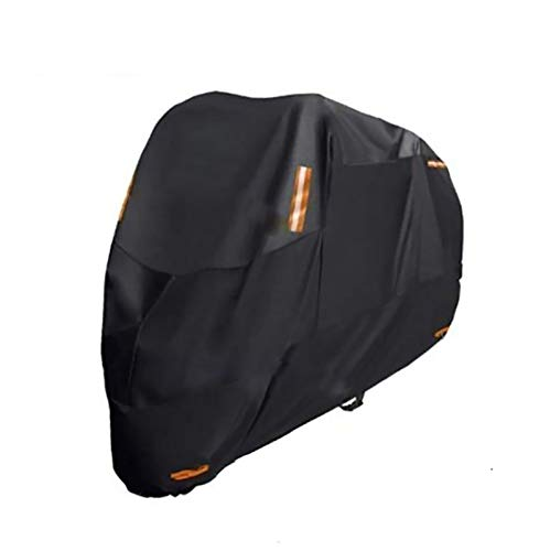Fundas para motos Motocicleta cubre compatible con cubierta de la motocicleta de Moto Guzzi California Negro Eagle, 6 tamaños cubierta de la motocicleta resistente al agua mejorada de poliéster 300D N