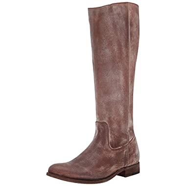 963025 Frye Womens Melissa Button Brown Riding Boots Size 6.5