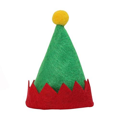 PRETYZOOM 6 Stücke Lollipop Hut Mini Elf Hut Lollipop Topper Miniatur Mütze Süßigkeiten Lutscher Weihnachten Verpackung Weinflasche Abdeckung Puppenhaus Mikrolandschaft Feengarten Weihnachtsdekoration