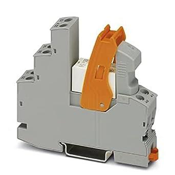 PHOENIX CONTACT RIF-1-RSC-LDP-24DC/1ICT - Módulo de relé premontado con conexión de tornillo (24 V CC, 10 unidades)