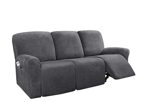 Funda de sofá reclinable de ante grueso de 1/2/3 plazas, el