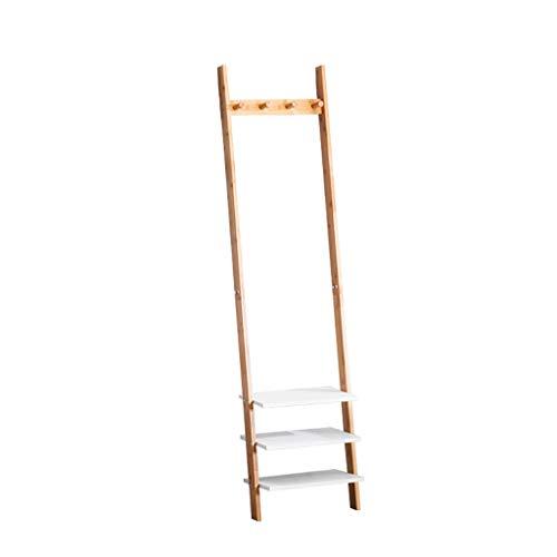 Preisvergleich Produktbild GLJJQMY Kleiderständer,  modern,  für Schlafzimmer,  Massivholz,  multifunktional,  zum Aufhängen an der Wand,  175 x 35 x 25 cm (43) (53) (63) Wandmontage,  Regal,  Bambus,  S