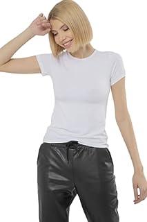 Carina Basic Short Sleeves Round Neck Viscose Undershirt for Women