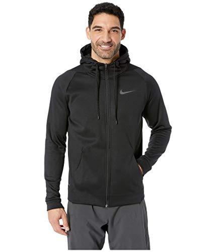 Nike Men's Therma Full-Zip Training Fleece Hoodie Dri-FIT (Black, Small)