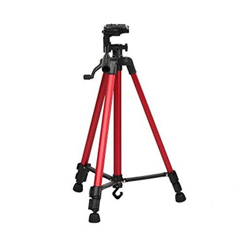 DAX Kamera-Stativ Leichtes Stativ Tragbares Telefon Live-Selfie 3366 Stativ DV SLR-Kamera Selbstauslöser Voll Light Bracket (Silber) Smartphone Tripod Kamera stativ (Farbe : Red)