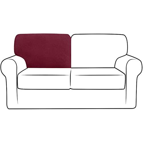 qing yun Funda elástica para respaldo de sofá, funda de repuesto para respaldo de sofá, funda de respaldo para sofá (rojo 1, T-izquierda)