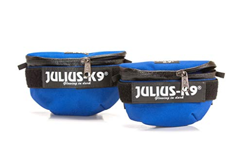 Julius-K9, IDC Universal Side Bags for Dogs, Harness Size: Mini to 4, Blue
