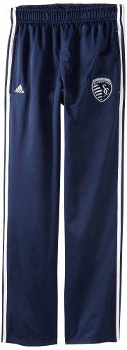 MLS Kansas City Wizards Men's 3-Stripe Primary Logo Microfleece Pant, Navy, X-Large