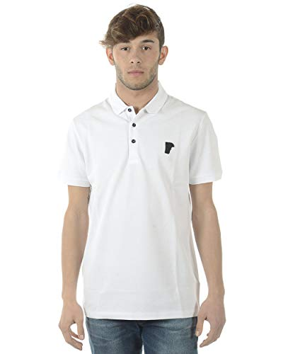 Versace Collection Men's Medusa Logo Regular Fit Pique Polo Shirt White