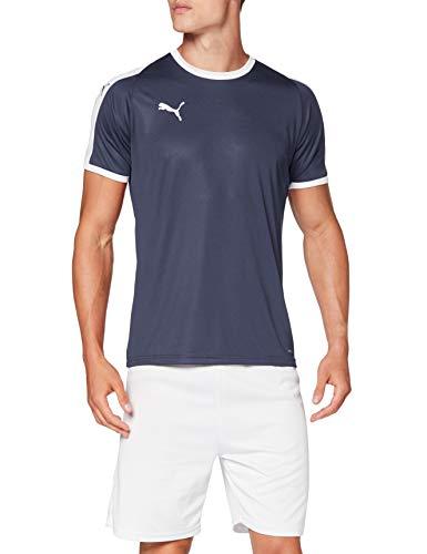 PUMA Liga Jersey T-Shirt, Hombre, Azul (Peacoat/White), S