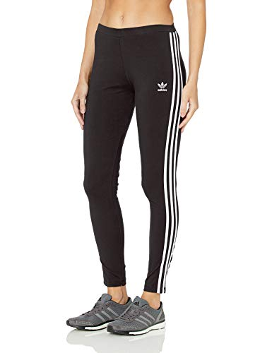 adidas Originals Women's 3 Stripes Legging, Black, XL