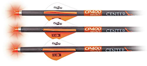 CenterPoint Archery CP400 Select 400-Grain 20_inch Carbon Arrows with Lighted Nocks AXCP4SLN3PK, Pack of 3