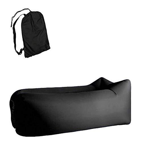 KSWD Tumbona Inflable portátil Sofá de Aire Flojo Impermeable a Prueba de Fugas Cama Flotante para Patio Trasero, Camping, Senderismo, Playa- A