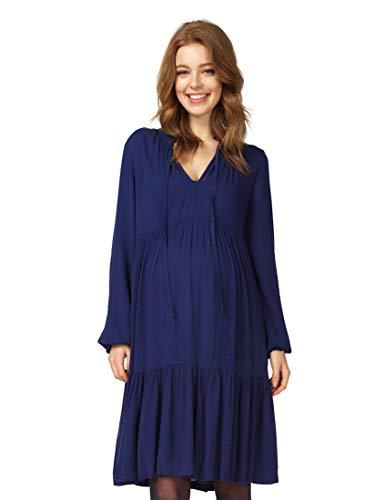 Queen Mum 91547 Robe de grossesse pour femme - Bleu - 36