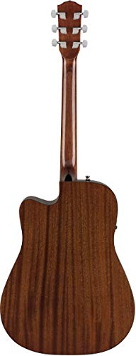 Fender CD-60SCE Dreadnought Acoustic-Electric Guitar - Natural Bundle with Hard Case, Cable, Tuner, Strap, Strings, Picks, Austin...