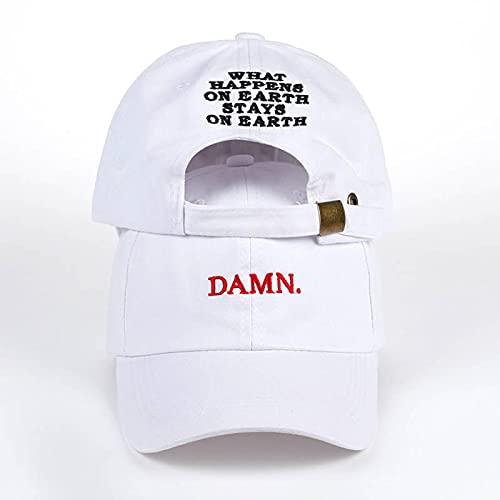 VSDFS Vino Rojo Kendrick Lamar Maldita Gorra Bordado Maldito Sombrero De Papá No Estructurado Hueso Mujeres Hombres El Rapero Gorra De Béisbol