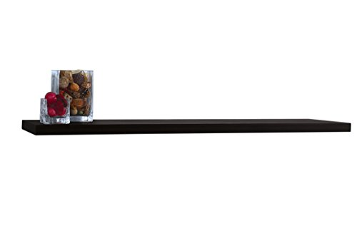 InPlace Shelving, Black 9084676 60 in W x 8 in D x 1.25 in H Slimline Floating Wall Shelf with Invisible Brackets, x x
