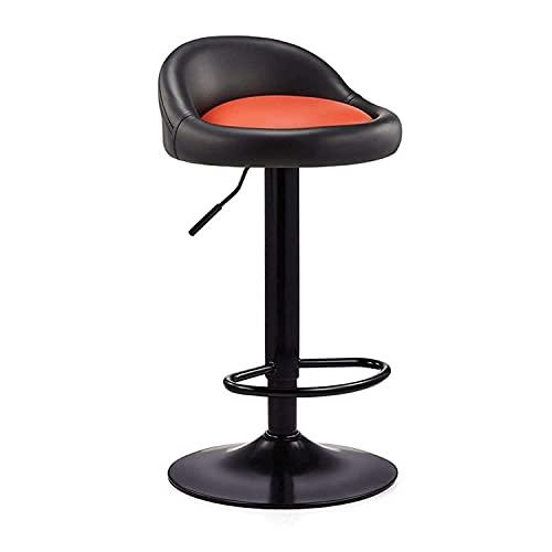 QLIGAH Taburete de barbero Barra Giratorio Taburete en Cuero Artificial Ajustable Sentado Superficie Interior Cocina