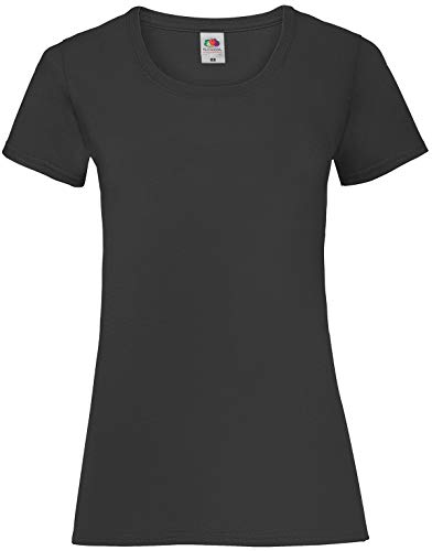 Fruit Of The Loom Ss079M Camiseta, Negro (Black), Large (Talla Del Fabricante: Large) Para Mujer