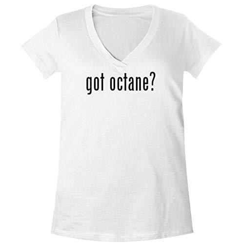 got Octane? - A Soft & Comfortable Women's V-Neck T-Shirt, White, X-Large