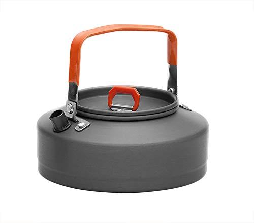 AIHOUSE Aluminio Que Acampaba Caldera, 0.8L Hervidor De Agua con Calor Anular El Sistema Colector (↑ 30% De Transferencia De Calor) con Colador De Té
