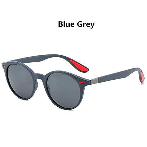 Gafas De Sol Gafas De Sol Polarizadas Redondas Vintage para Hombre, Diseñador De Marca Retro, Plástico, Conducción Al Aire Libre, Espejo De Pesca para Mujer, Gafas De Sol Uv40
