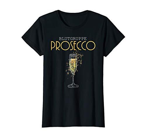 Damen Blutgruppe Prosecco | Prosecco Geschenk | Prosecco T-Shirt