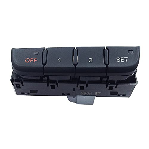 AQS1IAI 8KD959769 /Fit para Au.di A4 B8 2009-2016 Asiento Interruptor de memoria Interruptor de ajuste Asiento Llave de botón (negro)