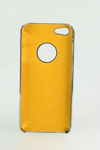 Unbekannt Cover Housse de Protection Luxueuse de Terminal pour Apple iPhone 5 de téléphone Portable de téléphone Portable de Cas Cas Métal Chrome en Aluminium brossé Bleu étui Rigide de