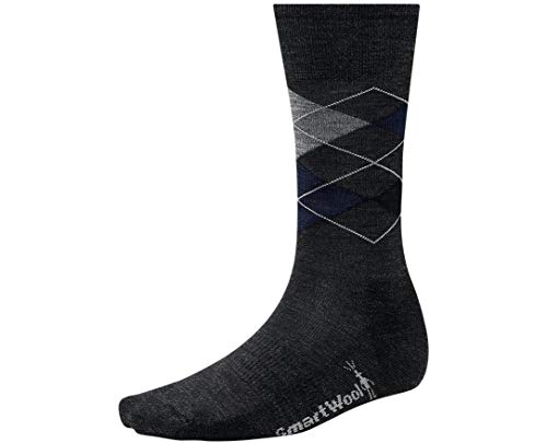Smartwool Diamond Jim Crew Chaussette Homme Deep Navy Heather/Medium Gris Heather FR : XL (Taille Fabricant : XL)