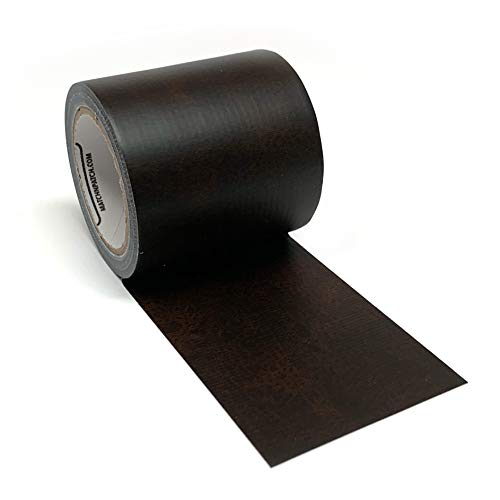 Match N Patch Realistic Dark Brown Leather Repair Tape