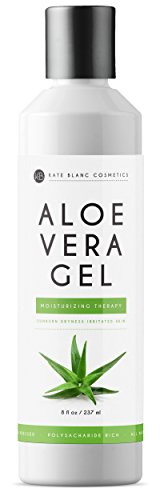 Aloe Vera Gel (8oz) by Kate Blanc. Organic, Pure, Cold Pressed. Heals Small Cuts. Relieves Sunburn, Itchy Bug Bites, Rashes, Dry Scalp, Irritated Skin, Acne, Psoriasis. DIY Hand Sanitizers.