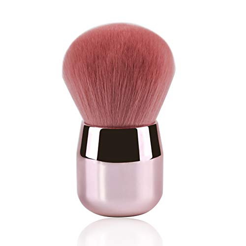 Foundation Brush Daubigny Large Pink Powder Brush Flat Arched Premium Durable Kabuki Makeup Brush Perfect For Blending LiquidCream and Flawless PowderBuffing BlendingConcealer