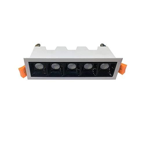 Laser Blade LED-Einbaustrahler, 10 W, 4000 K, neutrales Licht, 800 lm, Weiß/Schwarz