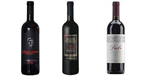 3 bottiglie di Vino Cannonau cl.75 (Mamuthone DOC cl.75 - Dule DOC cl.75 - Vigna Isalle DOC cl.75