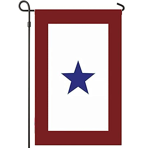 BirchRiver US Blue Star Service Garden Flag, One Star, Military Family - Stand Not Included - Vivid Color and UV Fade Resistant Banner– United States Blue Star