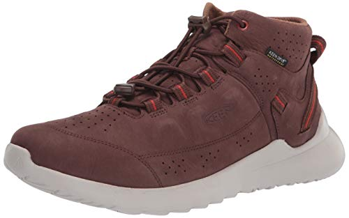 KEEN Herren Highland Leather Waterproof Chukka Sneaker, Kastanienbraun/Silber Birke, 44.5 EU