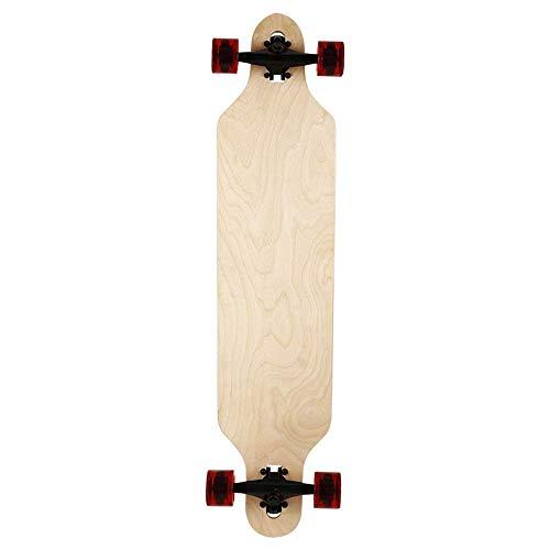 41-Zoll-Longboard Cruiser Brett, Junge, Mädchen, Skateboard, Skateboard QIANGQIANG (Color : Natural)