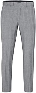 Tarocash Men's Malek Check Pant Regular Fit Sizes 30-46 for Going Out Smart Occasionwear Trousers