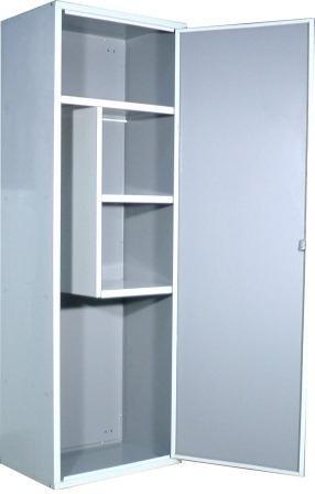 SecureBay - Armario escobero línea mar aluminio blanco porta escobas metálico metal 60 *Envío gratuito*