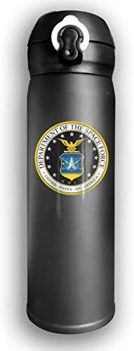 Bestqe United States Space Force Botellas de agua de acero inoxidable con aislamiento al vacío de doble pared Taza de viaje Termo de agua 17 oz