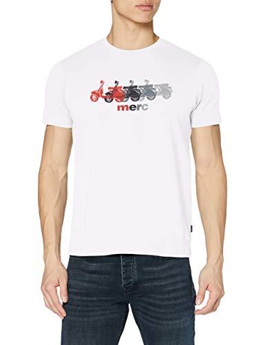 Merc of London Herren MARDEN T-Shirt, Off-White, XL