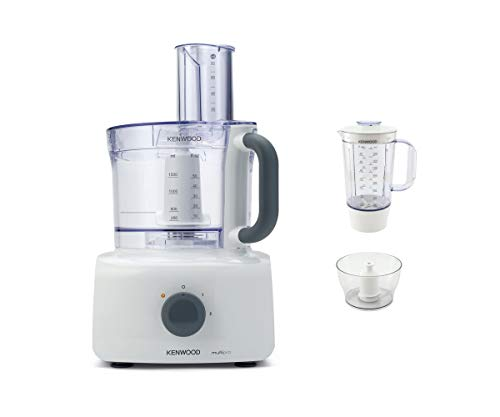 Kenwood MultiPro Home Food Processor, Blender with 2 Speed, Bowl 3 L, FDP643WH, White