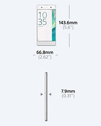 Sony Xperia XA Smartphone (5 Zoll (12,7 cm) Touch-Display, 16GB interner Speicher, Android 6.0) weiß
