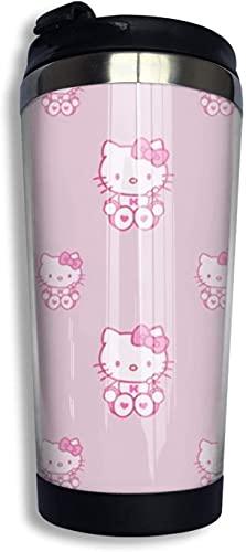 Hello Kitty Süße Kaffeetasse mit Deckel, 383 ml, für Eis- und Heißgetränke