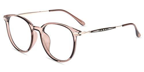 Firmoo Gafas de Luz Azul Hombre Transparentes, Gafas de Mujer Anti Luz Azul y Protección UV400, Monturas de Gafas Cuadradas