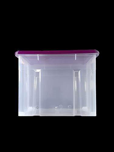 WieWin Eurobox Stapelbox Lagerkiste Transportbox 80L Box vesch Farben 60x40x46cm