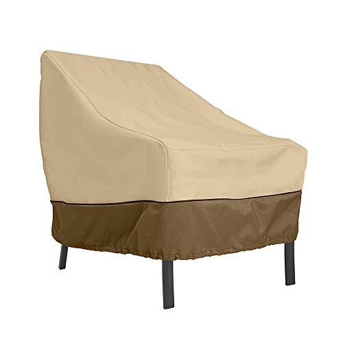 JYW-Covers Couverture De Meubles, De Plein Air Prime Chaise Housse De Protection, Tissu Oxford Imperméable, Coupe-Vent Résistant Aux UV,Beige,85 * 80 * 91Cm